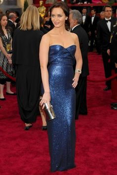 Emily Blunt in a gorgeous slinky number from Calvin Klein (2007)