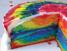DIY : Colorful tie-dyed Cake