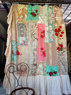 Shabby Chic Decor idea 1552977652 - Eye Catching notes to organize a classy shabby chic ideas decor Cozy Shabby chic decor note pinned on this creative day 20191130 Shabby Chic Bedrooms, Shabby Chic Diy, Boho Curtains, Shabby Chic Shower, Boho Decor, Shabby Chic Decor, Curtains, Rustic Fabric, Shabby Chic Shower Curtain