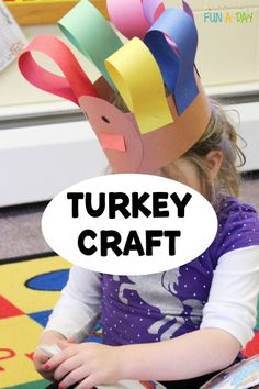 This turkey craft is perfect for a preschool Thanksgiving craft! It's a great way to talk about shapes and colors, and it also gives the kids a chance to work on fine motor and hand-strengthening skills. The kids in your classroom, or homeschool, will love making this turkey hat! Toddler Arts And Crafts, Easy Arts And Crafts, Crafts For Kids, Early Learning Activities, Preschool Activities, Enchanted Learning, Turkey Hat, Thanksgiving Preschool, Hat Crafts