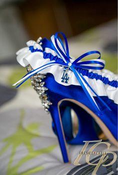 A Los Angeles wedding garter by Sugarplum Garters