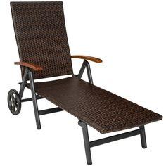 Vite ! Découvrez l'offre Chaise Longue Bain de Soleil Transat de Jardin Pliante Réglable en Aluminium et Résine Tressée 194 cm x 77 cm x 64 cm Marron TECTAKE pas cher sur Cdiscount. Livraison rapide et Economies garanties en chaise longue !