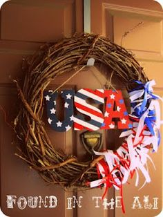 Team USA Wreath.. might attempt this Dollar tree DIY wreath