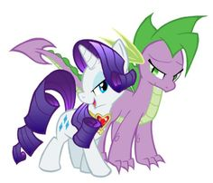 This is how I think and hope it will happen. Spike will grow up to be a bit taller than Rarity, and they will get married.There are tons of other cool ways as well, this is probably my favorite.