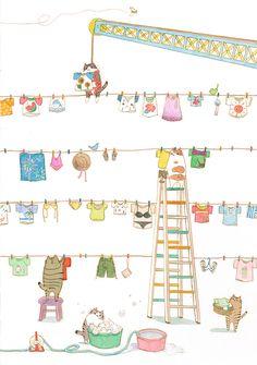 <3 cute illustration