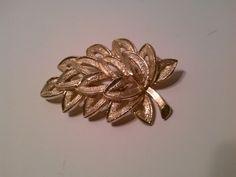 Vintage GoldToned Leaf Brooch by LMTDInteriorConsults on Etsy, $9.50