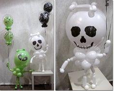Simpáticos monstruos para Halloween   decoracion halloween,decoracion globos halloween,monstruos halloween,globos halloween,halloween qualat...