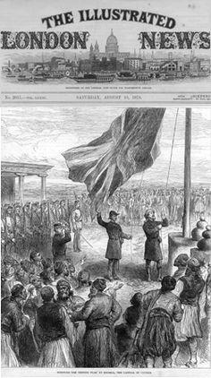 The Union Jack being hoisted in Nicosia, Cyprus Union Jack, Political Cartoons, Paris Skyline, Nicosia Cyprus, Empire, British, History, Illustration, Ottoman
