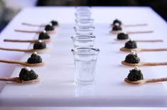 Caviar served with vodka shots.must be Peter Callahan Wine Recipes, Gourmet Recipes, Caviar Recipes, Gourmet Foods, Beluga Vodka, Russian Party, Infused Water Recipes, Food Presentation, Food And Drink