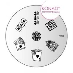 Konad Stamping Nail Art Image Plate - M48 by Konad. $5.79. Mini Image Plate. Image Plate. Mini White Special Polish 2.5 ml. INCLUDES:. Mini Stamper & Scraper (Nail polish can be stored inside the stamper!). Get amazing professional manicure results with this easy-to-use system. With Konad Nail Art your nails will always be one of a kind! Konad Stamping Nail Art is a new and innovative nail-imprinting kit that allows you to stamp beautiful pre-designed images on your nails in m...