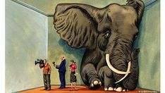"""Creative Nonfiction Prompt: Write an essay about a time when you failed to see the idiomatic """"elephant in the room""""—was it difficult or easy to ignore the issue? What did it reveal about your tendencies in social interactions? For more, visit: http://at.pw.org/1lfUA35"""