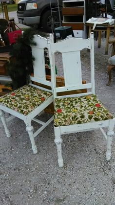 Ms bees painted furniture ...chairs i refinished and recovered..  love me sum chalk paint