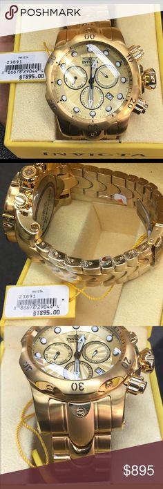 829317a6fd7 Brand New 23891 Invicta Venom Gold Tone Watch