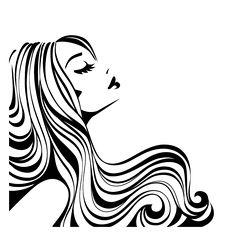 Hair Salon Decal / Hair Stylist/ Hair Studio Decals by Adsforyou Hair Vector, Vector Art, Hair Clipart, Vintage Hair Salons, Salon Art, Hair And Beauty Salon, Woman Silhouette, Dance Silhouette, Silhouette Vinyl
