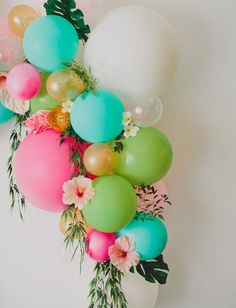 DIY Floral Balloon Arch