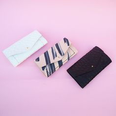 Which one do you choose?   White ostrich, Painted tan or black ostrich? $85 PM to order . . .  #lady #wallet #Leather #madeinbrooklyn