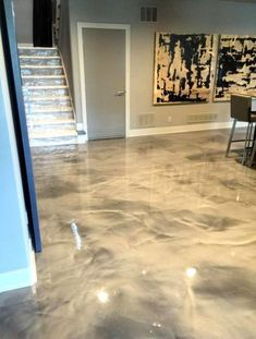 epoxy floor There exists a countless stream of unfinished basement ideas around, with ideas .