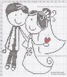 Wedding perler bead pattern