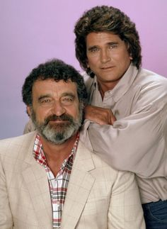 Victor French as Mark Gordon Michael Landon as Jonathan Smith Photo by Ron Tom/NBCU Photo Bank Famous Couples, Famous Men, Famous Faces, Famous People, Michael Landon, Victor French, Jonathan Smith, Celebrities Then And Now, Male Celebrities