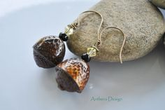 Unique Earrings  Real Acorn  Natural Jewelry  by AntheraDesign, $24.99