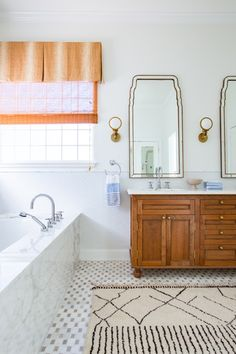 Rue Piper Master Bathroom  Bath  Coastal  Contemporary  Eclectic by Logan Killen Interiors