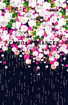 """Camila France, make repetitive floral """"dodges"""" like the dots of Gustav Klimpt's."""