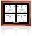 Quadruple diploma frame certificate frames