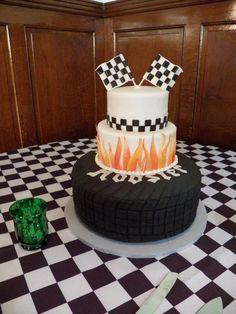 race fans--pinewood derby cake?