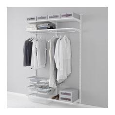 ALGOT 壁用支柱/棚板/ロッド IKEA ALGOT/アルゴート 収納システムなら、パーツを自由に組み合わせて収納ニーズや設置スペースにぴったりの収納を実現できます 洗面所など、湿気の多い場所でも使用できます ALGOT/アルゴート 壁用支柱にはめ込むだけで取り付けられます。工具は必要ありません