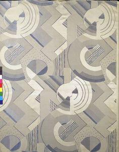 '' Variations ''    Furnishing fabric   Lyon, France (made)  Date: ca. 1931 (made)  Artist/Maker: Bonfils, Robert, born 1886 - died 1971 (designer)  Bianchini-Férier (maker)   Silk