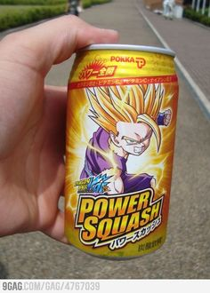 Just a Japanese energy drink-Dragonball Z Power Squash!  (Why can't America have things like this?)