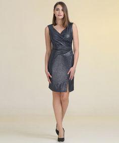 Φόρεμα Κρουαζέ με Γυαλιστερό Ύφασμα   Vaya.gr
