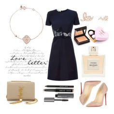 """""""Latelita - Valentine's Day, date night outfit"""" by latelita ❤ liked on Polyvore featuring Christian Louboutin, Bobbi Brown Cosmetics, Jouer, Yves Saint Laurent, STELLA McCARTNEY, Balmain, Charbonnel et Walker, women's clothing, women's fashion and women"""