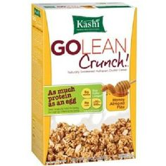 Like the original, this crunchy cereal is a good source of protein, plus flax, almonds and real honey tastiness.Kashi GOLEAN Crunch! Honey Almond Flax cereal is a delicious blend of sweet, crunchy mul