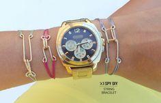 DIY   Hook & Eye String Bracelet from I Spy DIY
