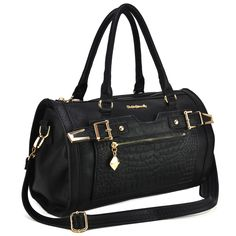 SY1396 Black - New Design Bowling Bag With Belt