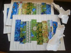 quilts patterns| aotearoa | tablemats| free pattern| kiwiana | fabrics For our new pillowcases.