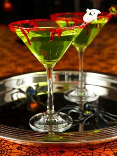 Zombie Slime Shooters Halloween Cocktail Recipe - on HGTV