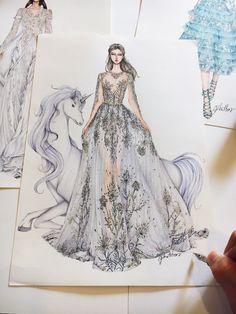Zuhair Murad Haute Couture fall 2017 #fashionsketch #fashiondrawing #fashionillustrator #fashionillustration #fashionart #art #artwork #instaart #hautecouture #zuhairmurad #paris #parisfashionweek