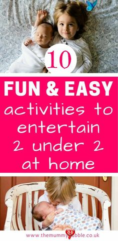 10 fun indoor activities to entertain two under two - The Mummy Bubble How to entertain a baby and a toddler at home. 10 easy ideas for parents with 2 under 2<br> One of the most difficult things I found about having two under two was what to do with them all day. They might be close in age but their abilities,... Fun Indoor Activities, Infant Activities, Group Activities, Toddler Learning, Toddler Preschool, Learning Games, Parenting Teens, Parenting Hacks, Parenting Articles