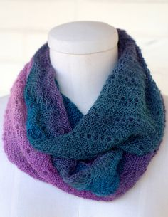 Lace Edge Cowl, worn doubled