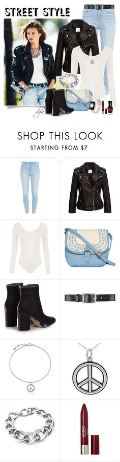 """""""Bodysuit Style"""" by dgia ❤ liked on Polyvore featuring Paige Denim, Anine Bing, WearAll, T-shirt & Jeans, Gianvito Rossi, Belstaff, BERRICLE, Journee Collection, West Coast Jewelry and Revlon"""