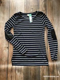 Classic black and white stripe
