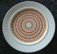 No name retro pattern kelston Ceramics is Athena Orange Retro Pattern, Dinnerware, Plates, Ceramics, Orange, Tableware, Crown, Apollo, Design