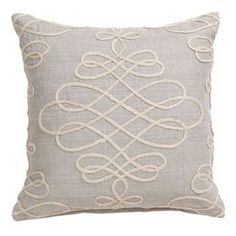 "Invite fresh spring flair into your home with this eye-catching pillow, adding a pop of style to your sofa, settee, or master bed. Product: PillowConstruction Material: 100% LinenColor: Beige Features: Insert included Dimensions: 18"" x 18""Shipping: This item ships small parcelExpected Arrival Date: Between 04/13/2013 and 04/21/2013Return Policy: This item is final sale and cannot be returned"