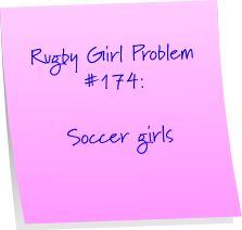 They're not as wimpy as soccer boys but they still think that their sport is the most dangerous