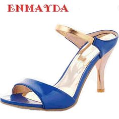 $35.59 (Buy here: https://alitems.com/g/1e8d114494ebda23ff8b16525dc3e8/?i=5&ulp=https%3A%2F%2Fwww.aliexpress.com%2Fitem%2FENMAYER-high-heeled-sandals-sweet-fashion-banquet-wedding-sandals-platform-high-heel-slipper-women-slippers-summer%2F32330746690.html ) ENMAYDA high heels sandals sweet fashion banquet wedding sandals platform high heel slipper women slippers summer women's Party for just $35.59
