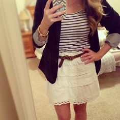 blazer stripes and lace