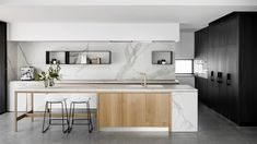 Oreo House by Taylor Pressly Architects - Australian Interior Design Awards Home Decor Kitchen, Kitchen Furniture, New Kitchen, Home Kitchens, Cheap Furniture, Kitchen Ideas, Modern Kitchens, Furniture Dolly, Small Kitchens