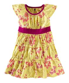 bfe61e603e202 Take a look at this Yuzu Ardmore Floral Twirl Dress - Infant   Girls on  zulily